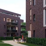 dhu hamburg Richtfest für drei Mehrfamilienhäuser mit 58 Wohnungen Bauprojekt